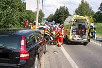 Těžká dopravní nehoda v obci Lípa.