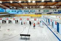 Očkovací centrumve zlínské PSG areně, červenec 2021