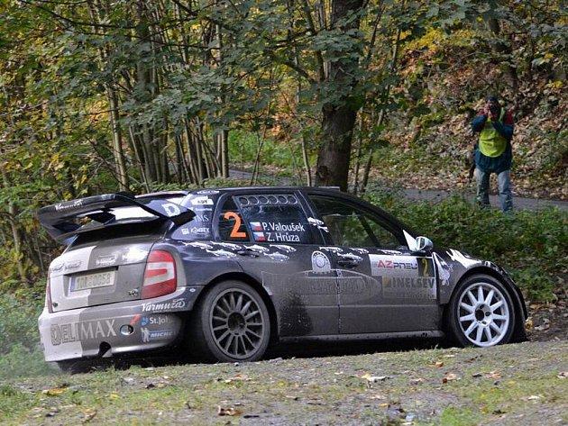Pavel Valoušek na trati Rally Jeseníky