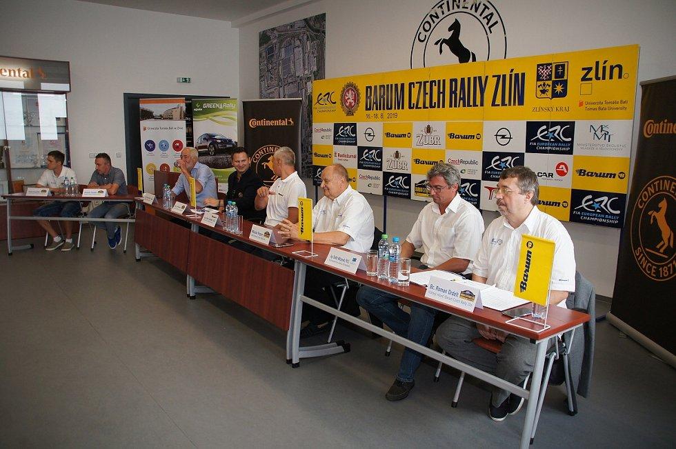 Tisková konference před startem Barum Czech rally