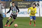 Fotbalisté Zlína (ve žlutých dresech) ve 22. kole FORTUNA:LIGY podlehli Českým Budějovicím 2:3.
