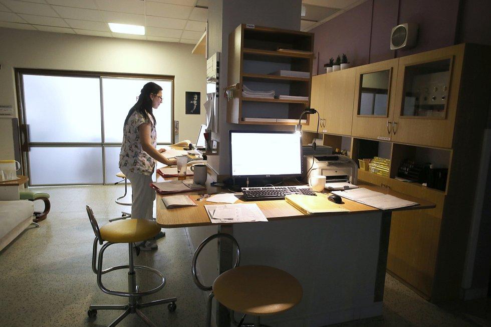 Gynekologico- porodnické oddělení Krajské nemocnice T. Baťi ve Zlíně.Velín