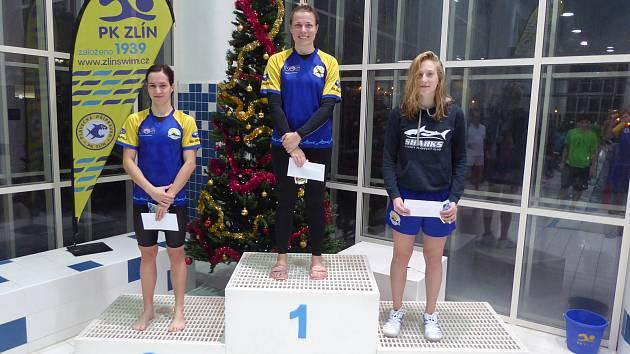 Žraloci si podmanili Vánoční cenu Zlína v plavání. Doma získali patnácti zlatých medailí.