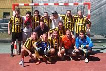 Na snímku vítěz baráže a nový celek I. ligy MAKO Zlín FC Real.