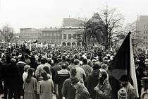 Archivní fotografie z listopadu 1989 ve Zlíně