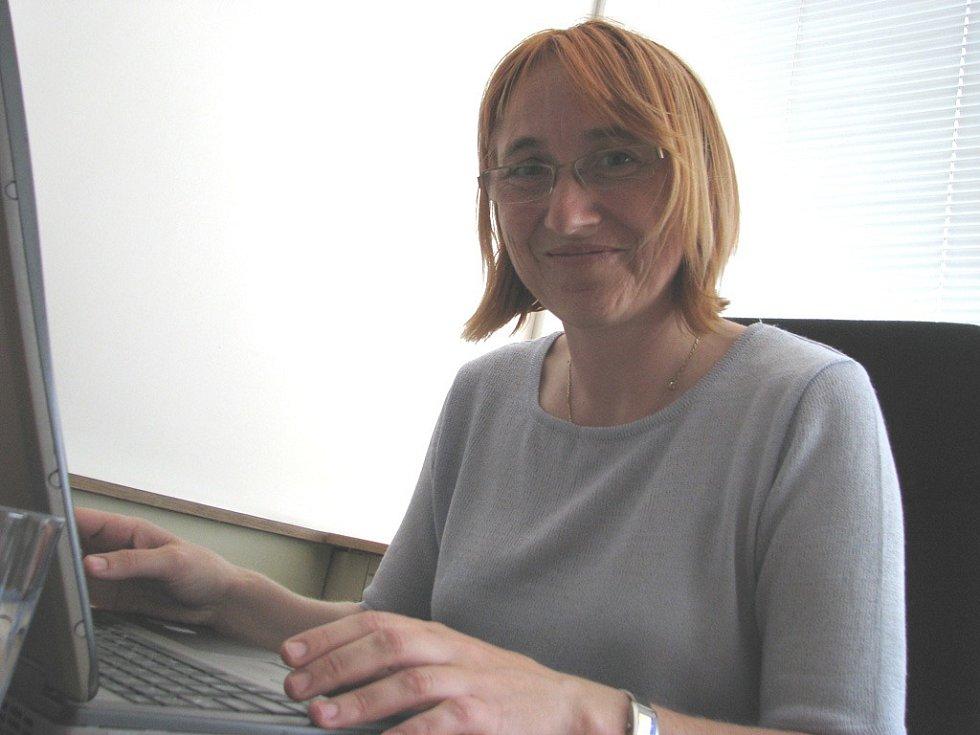 Europoslankyně Olga Sehnalová při on-line rozhovoru pro Zlínský deník.