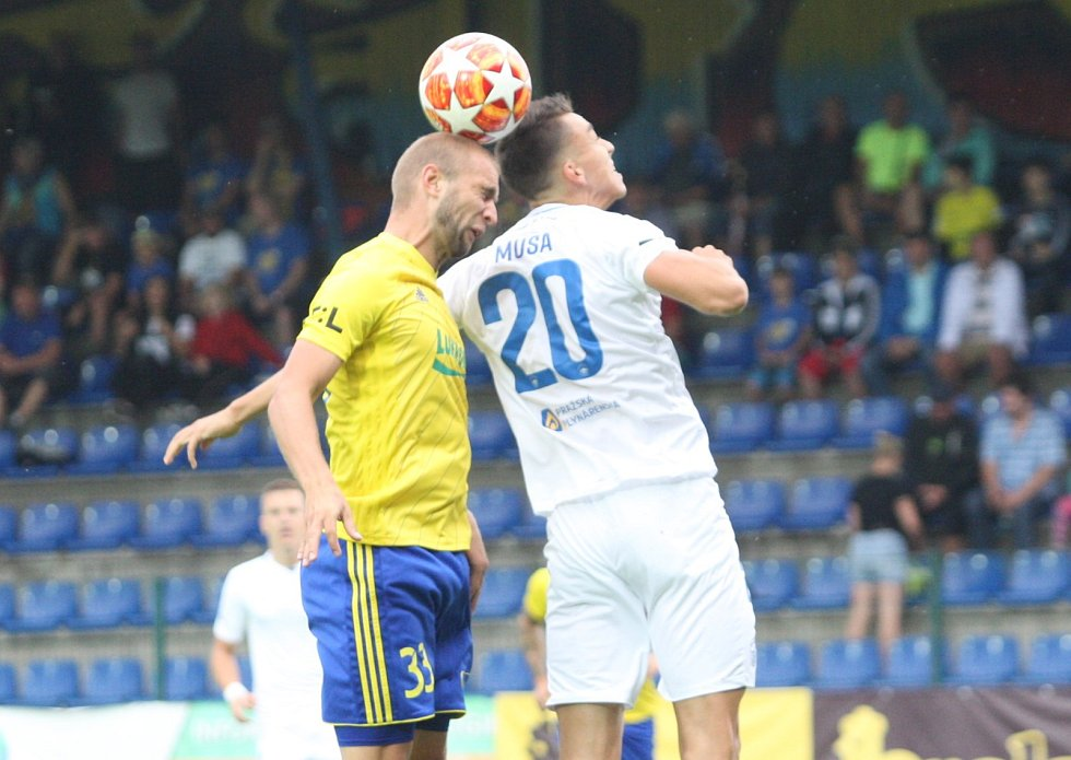 Fotbalisté Zlína (ve žlutých dresech) ve 3. kole FORTUNA:LIGY hostili Slovan Liberec.