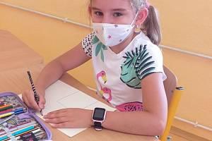 Distanční výuka během pandemie v ZŠ a MŠ Žlutava.