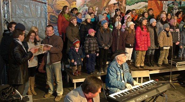 Česko zpívalo koledy. Atmosféra ve Olomouci byla úžasná.