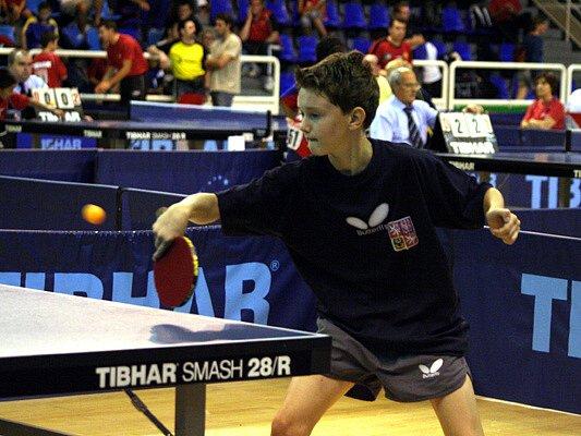 Stolní tenista Prokeš.