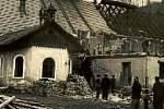 SIDONIE, 1935–1936. Rozebírání – bourání sklárny kvůli krizi.