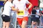 V sobotu se ve Zlíně uskutečnil třetí ročník festivalového půlmaratonu, který byl součástí doprovodného programu 58. Zlín Film Festivalu. Poprvé zvítězil český běžec Jiří Čípa, který překonal traťový rekord. Foto: Deník/Libor Kopl