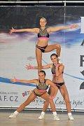 Zlínský oddíl MV TEAM Univerzity Tomáše Bati Zlín získal na mistrovství České republiky ve sportovním aerobiku a fitness týmech v Plzni devět medailí. Foto: archiv klubu