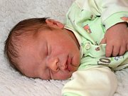 Matěj Sácký ze Zlína se narodil 16.4.2012, 3470 g, 49 cm