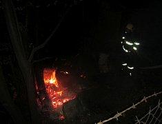 Požár udírny v městské zlínské části Jaroslavice