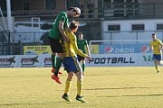 Fotbalisté Zlína (ve žlutém) ve 21. kole FORTUNA:LIGY prohráli v Příbrami 2:3.