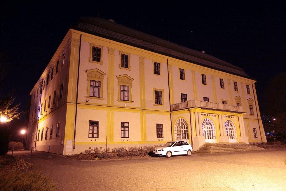 Zámek. Noční Zlín objektivem fotografa Jana Karáska.