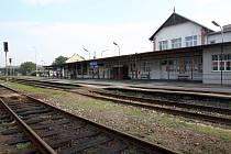 Budova vlakového nádraží ve Zlíně