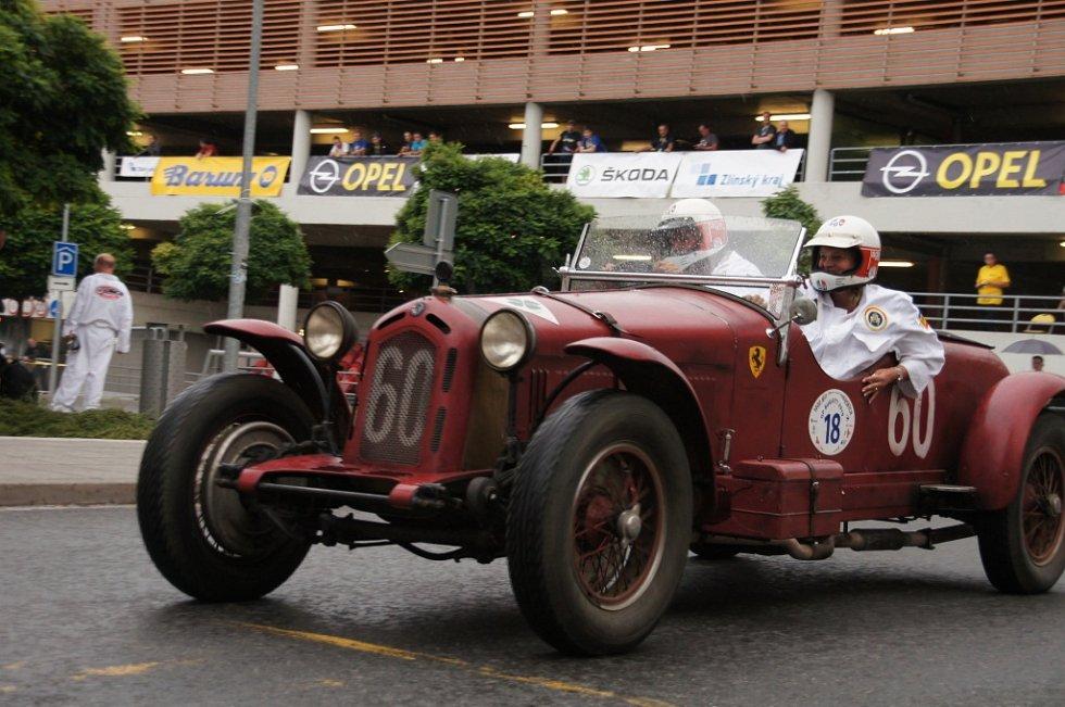 Start 49. ročník Barum Czech Rally. Bugatti