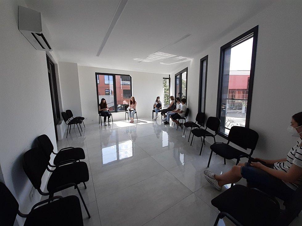 Očkovací centrum v zařízení Medical Plus v Uherském Hradišti. 21.7:2021