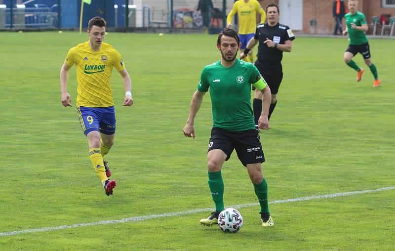 Fotbalisté Zlína (ve žlutých dresech) se ve 27. kole FORTUNA:LIGY utkali s Příbramí.