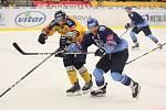 Zlínští hokejisté (ve žlutých dresech) hostili v. 5 kole extraligy kladenské Rytíře.