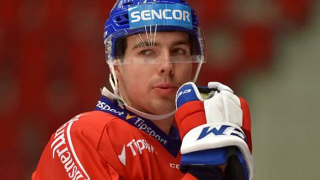 Filip Chytil - Trénink české hokejové reprezentace během přípravy na květnové mistrovství světa