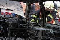 Pořár auta v centru Zlína