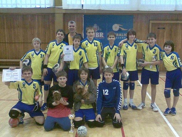 Vítězný tým zlínských házenkářů.