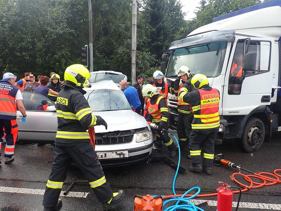 Dopravní nehoda ve Zlíně-Přílukách 17.8.2020.