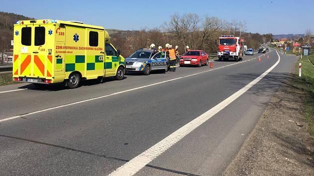Dopravní nehoda na tahu Zlín-Vizovice