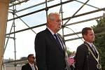 Návštěva prezidenta ČR Miloše Zemana ve Zlínském kraji. Náměstí Míru ve Zlíně