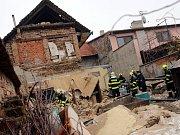 Výbuch plynu v rodinném domě v ulici Kvasické v Tlumačově.