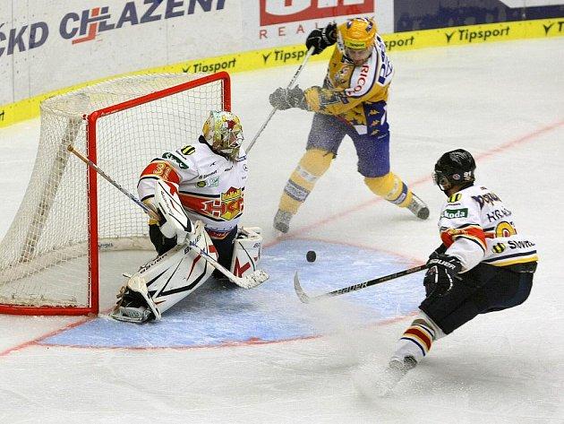 Zlínští hokejisté odehráli v úterý 17. srpna přátelské utkání s hosty ze slovenského Zvolena.