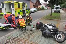 Při nehodě byl zraněn řidič skútru