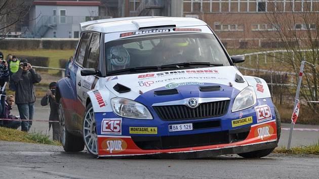Tomáš Kostka na trati Milulášské Rally