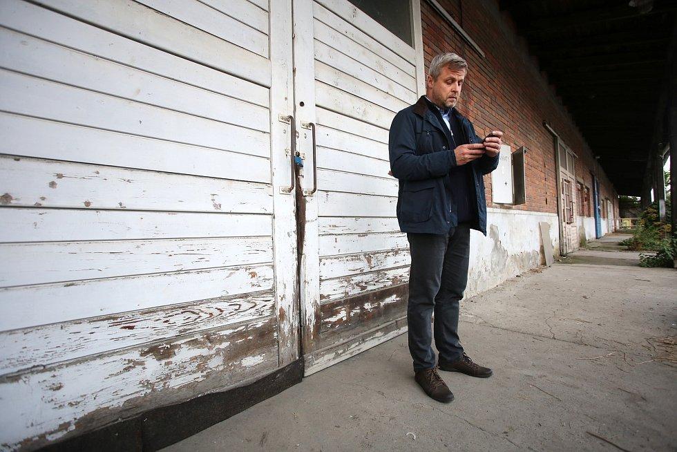Natáčení filmu Metanol ve Zlíně.Vasil Fridrich