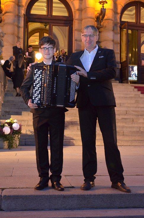 Martin Kot, talentovaný akordeonista z Napajedel.
