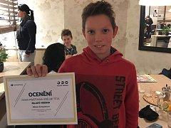 MIKIS KOTOPULOS. Jedenáctiletý závodník ze Zlína.