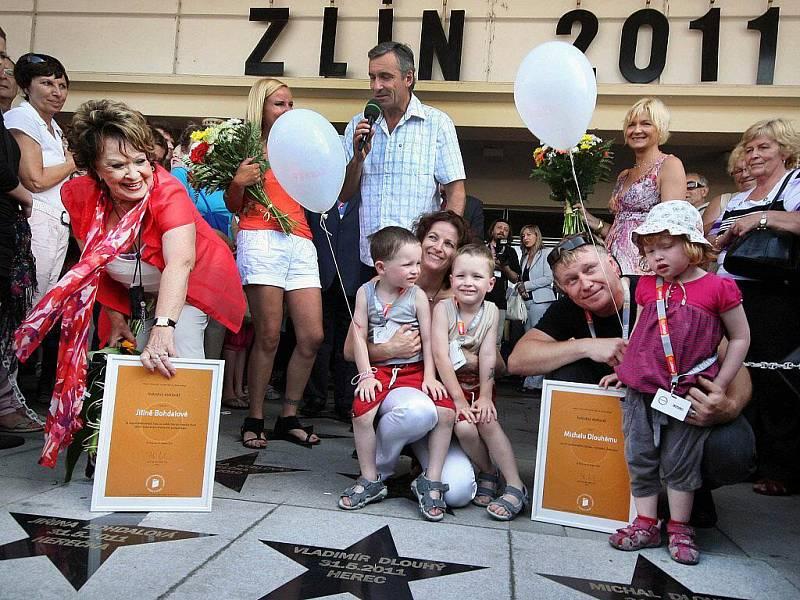 Jiřina Bohdalová a Michal Dlouhý na chodníku slávy, Zlín