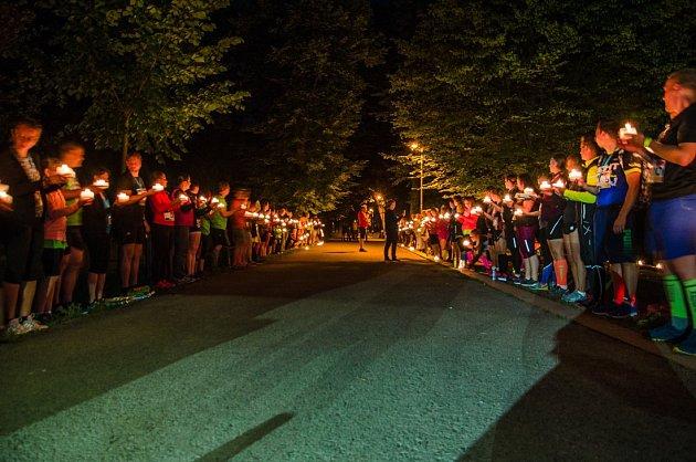 Noční běh v Rožnově pod Radhoštěm