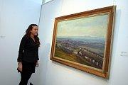 Výstava Zlínský kraj očima malíře Vladimíra Hrocha v krajské galerii výtvarného umění ve Zlíně.  Uherské Hradiště 1954