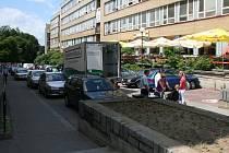 Bartošova ulice v centru Zlína.