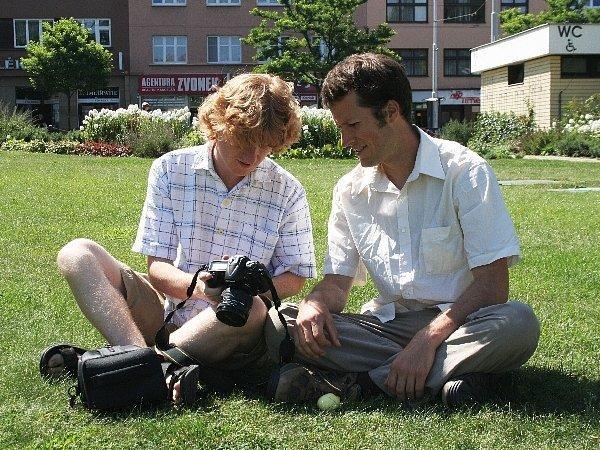 CouchSurfer Brian z USA (vpravo)