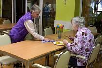 Běžný den v domově pro seniory v obci Loučka na Zlínsku