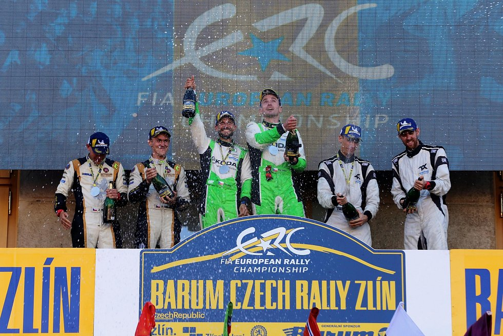 Barum Czech Rally Zlín 2019  cíl