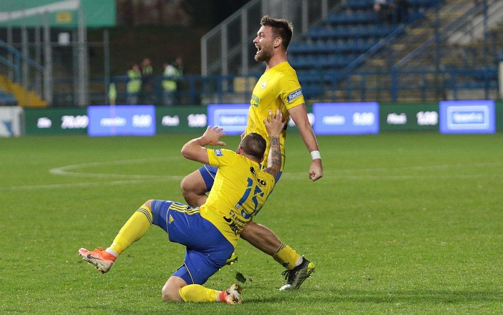 Zlínský útočník Tomáš Wágner srovnal proti favorizované Plzni na 1:1 a ukončil dlouhé čekání Fastavu na gól.
