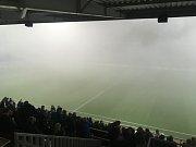V 72. minutě sudí přerušil utkání Zlína s Kodaní pro mlhu