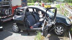 Tragická srážka dvou fordů u Zašové
