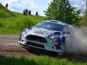 Roman Odložilík na trati Rally Vyškov 2016